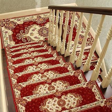 NRQU European Style Anti Slip Stair Tread Mat Corner Stair Mat Step Pad C