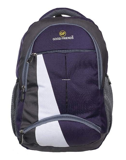 Good Friends Men's Waterproof Laptop Backpack for School and College Bag