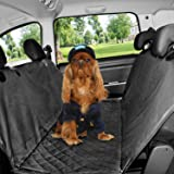 HoneyGuaridan Coprisedile auto per cani e per animali domestici - Impermeabile e reversibile, Extra Lembi laterali, antigraffio Resistente e lavabile Posteriore Coprisedili per animali auto SUV