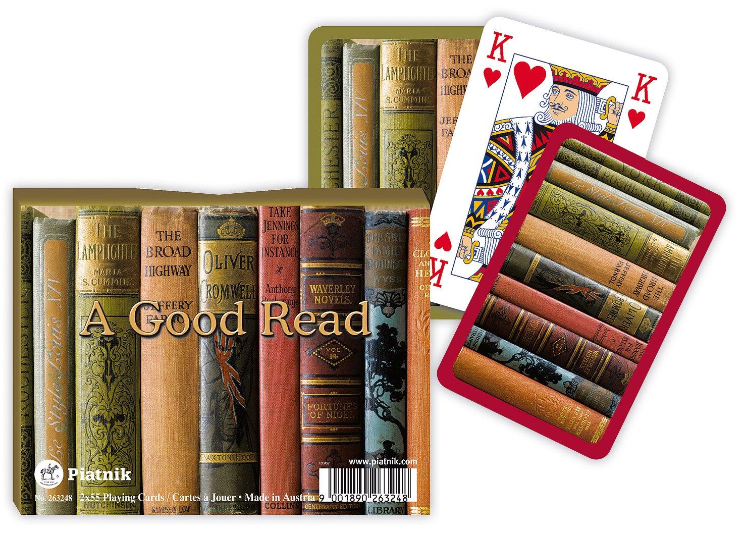 Piatnik A Good Read Bridge Double Playing Cards Double Deck 00 2632