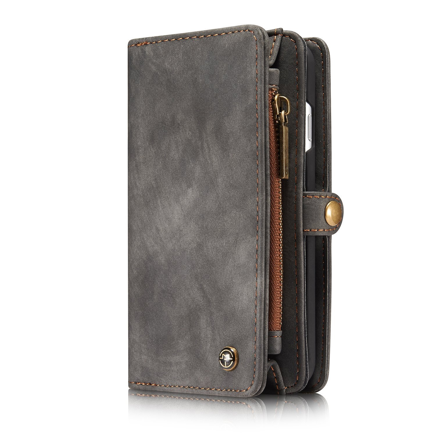 Leather Wallet Phone Case with Card Slots Wallet Cover Magnetic Removable  Case For iPhone 6 6S 6 6SPlus 7 8 7 Plus 8 Plus For Samsung S7 S7  Edge S8 S8 Plus 3d9521187498