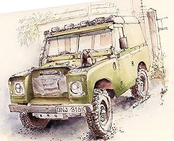 Land Rover serie llavero imán de posavasos taza regalo ...
