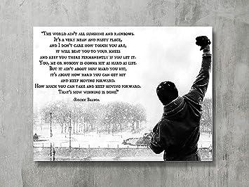 Fayfa Dawn Sky Rocky Balboa Motivational Quotes Art Poster Print Hope Qoute 18x24 Inch