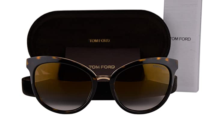 8e768744d2321 Image Unavailable. Image not available for. Color  Tom Ford FT0461 Emma  Sunglasses Dark Havana Gold ...
