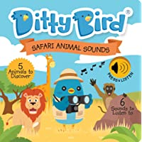Ditty Bird Interactive Safari Sounds Book for Babies with Real-Life Sounds. Educational Toys for Baby, 1 Year Old…