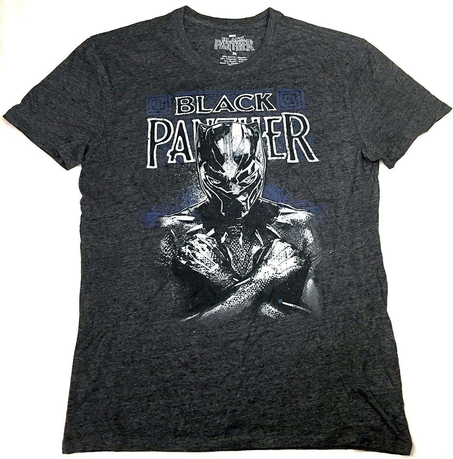 BLACK PANTHER Charcoal Heather Mens Licensed T-Shirt