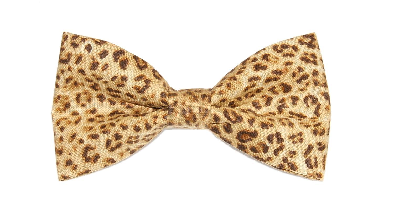 Mens Cheetah Print Clip On Cotton Bow Tie Bowtie amy2004marie