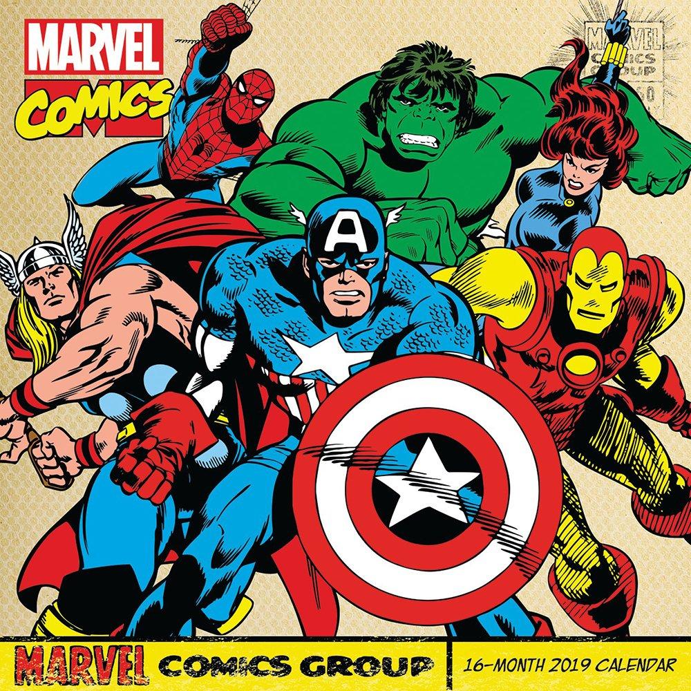 2019 Marvel Calendar Retro Marvel Comics Wall Calendar (2019): Day Dream: 9781635712759