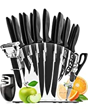 Home Hero Stainless Steel Knife Set with Block