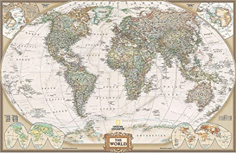 National geographics executive world map wall mural self national geographics executive world map wall mural self adhesive wallpaper in various sizes gumiabroncs Image collections