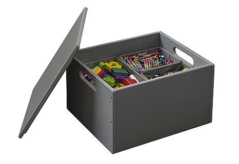 Tidy Books - Caja de juguetes Sorting Box Original en gris oscuro - Ideal para almacenar