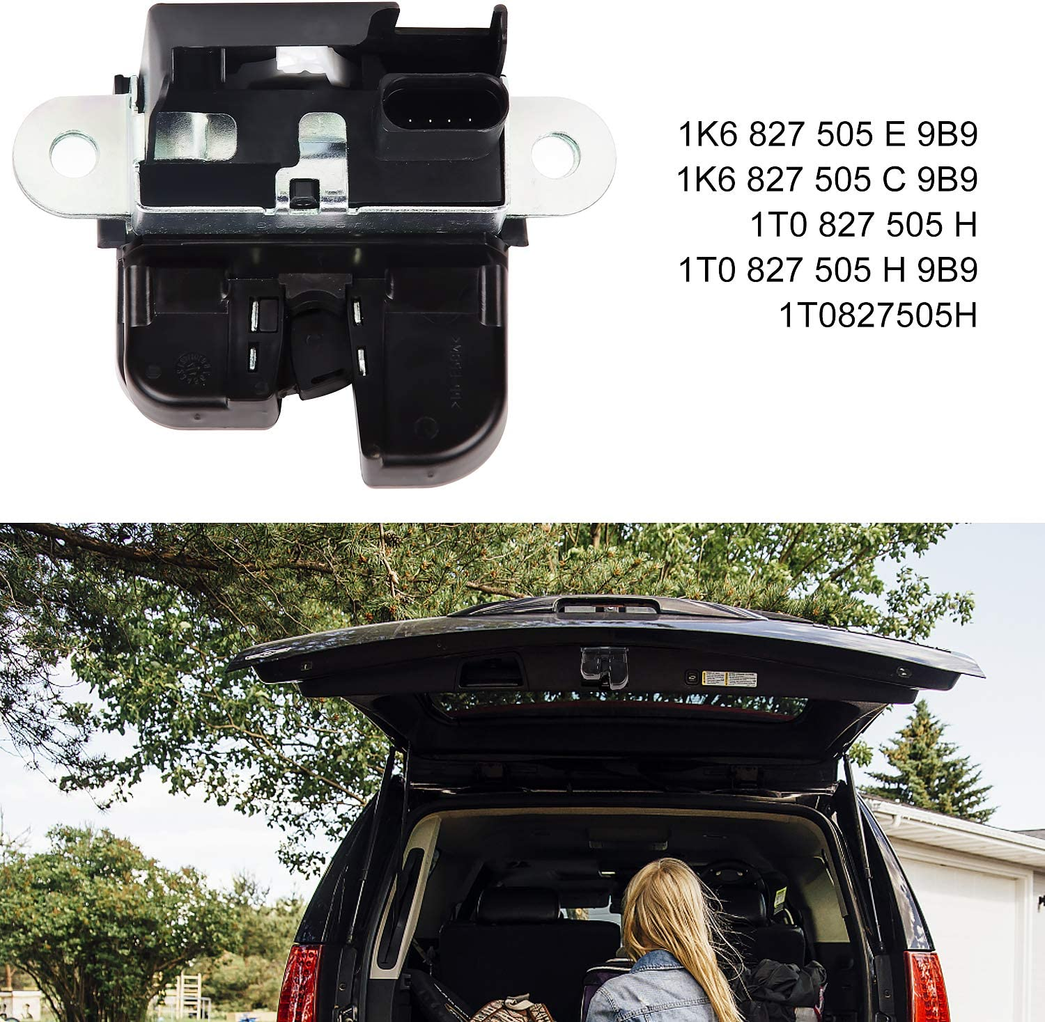 EXLECO Car Tailgate Lock Boot Tailgate Lock for Tailgate Lock Golf//Touran//Passat Vehicle 5K0827505A 1K6827505E