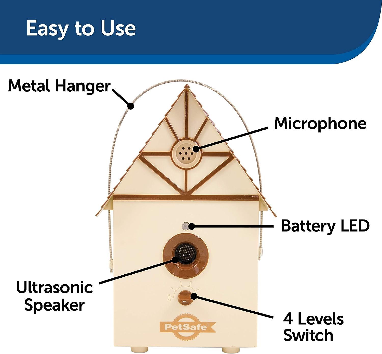 PetSafe Outdoor Ultrasonic Bark Deterrent, Up to 50 ft. Range, Outdoor Use Only, No Collar Needed : Sonic Barking Deterrents : Pet Supplies