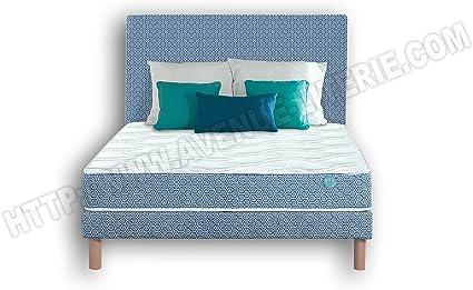 Conjunto Pack Blue Optik 140 x 190: colchón + somier Blue ...