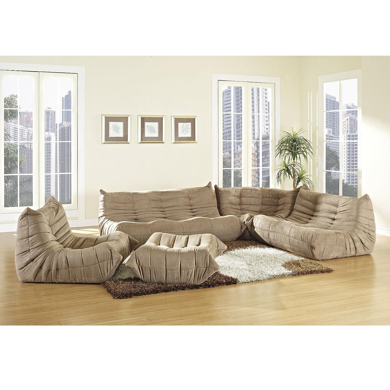Lexington Modern Waverunner Modular Sectional Sofa Set Brown 5
