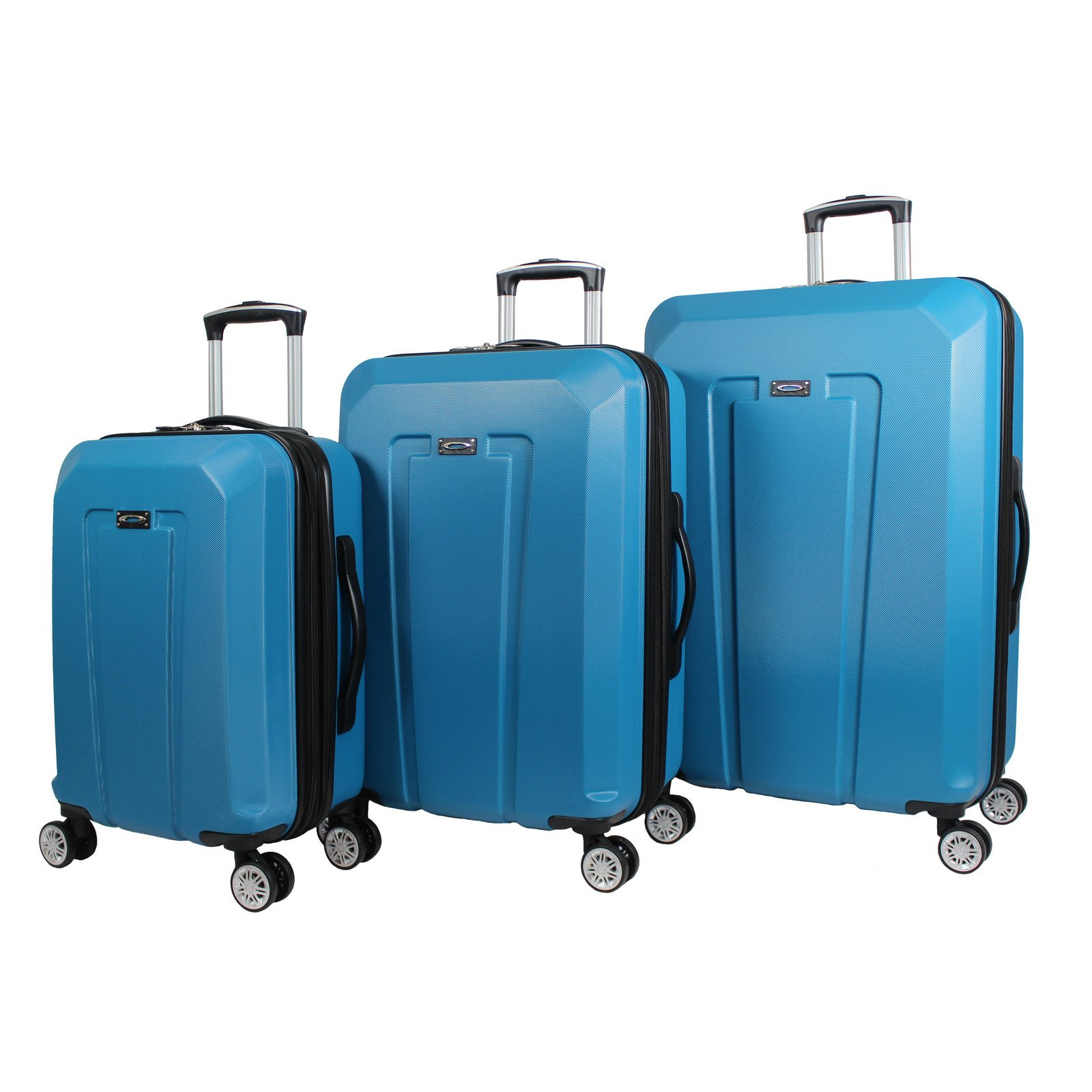 Kemyer Teal Light Weight 3-Piece Hardside Spinner Luggage Set by Kemyer