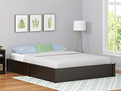 Amazon.com: Ameriwood Home Queen Platform Bed Frame, Espresso ...