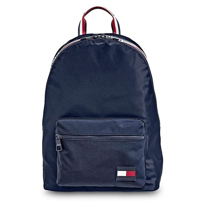 85bd846da92 Tommy Hilfiger Men's Signature Tape Backpack One Size Navy: Amazon.co.uk:  Clothing