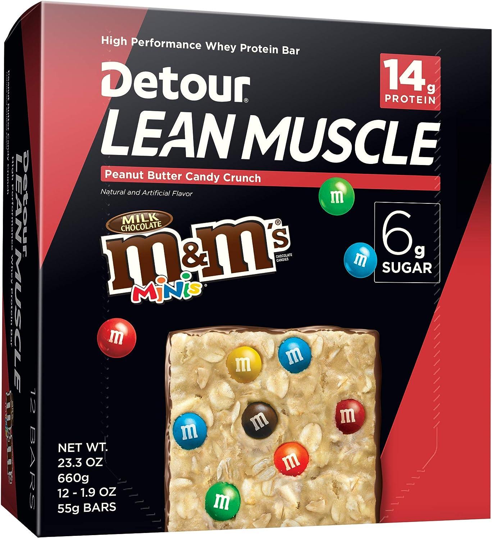 Detour Lean Muscle Candy Crunch, Peanut Butter, 1.9 Ounce