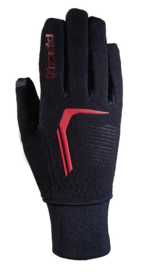 Roeckl rosario JR guantes de invierno para niños de largo colour negro/rojo, color