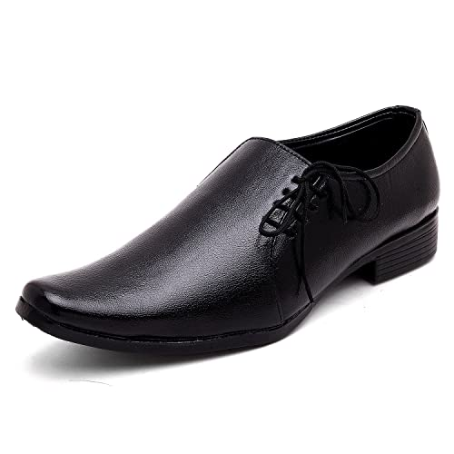 Trane Shoes Mens Black Lace Up Office Wear Party Wear New Look