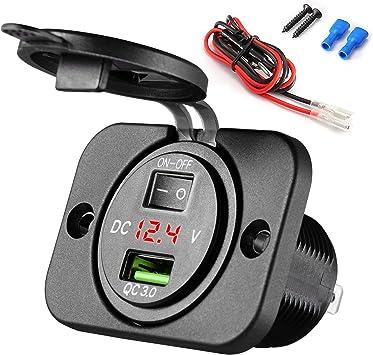 PRESA DOPPIA USB 12V ACCENDISIGARI AUTO MOTO SCOOTER CAMPER carica batteria cell