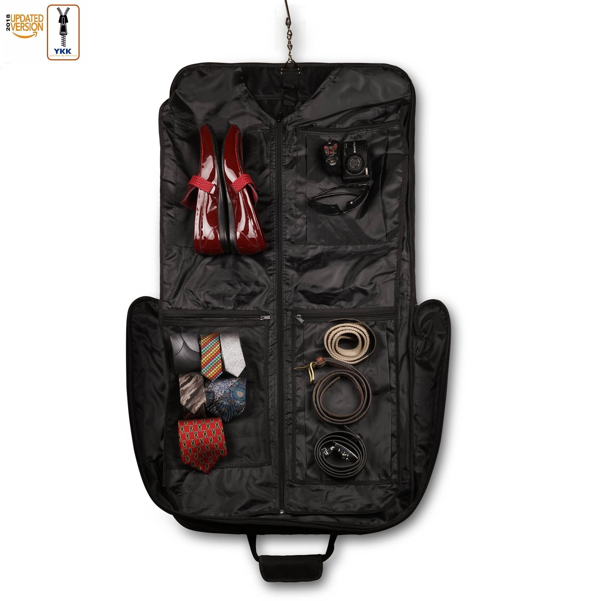 3 Suit Carry On Garment Bag for Travel & Business Trips With Shoulder Strap 40'' Bagazzi Brand by Bagazzi (Image #3)