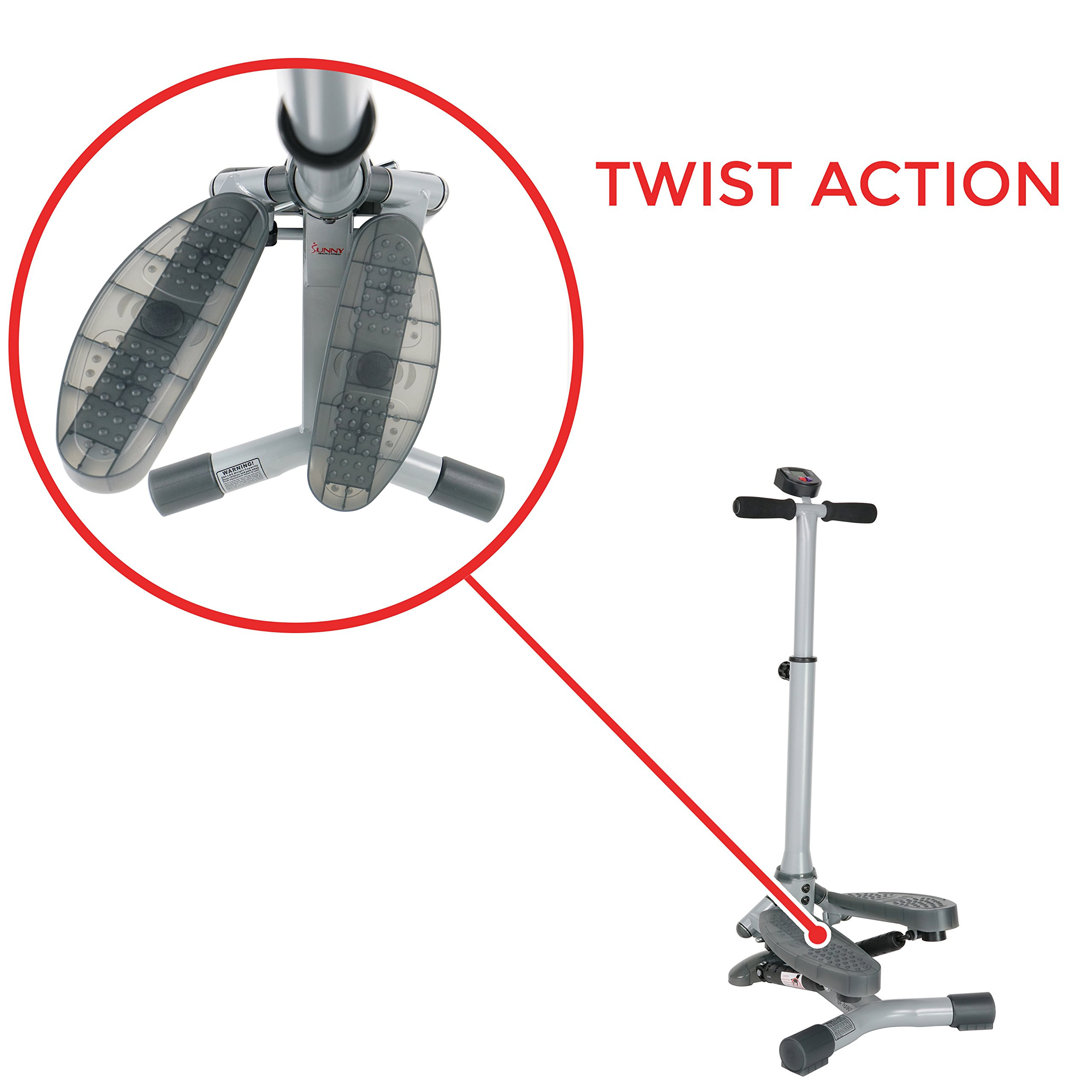 Sunny Health & Fitness SF-S0637 Twist-In Stepper Step Machine w/ Handlebar and LCD Monitor by Sunny Health & Fitness (Image #7)