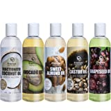 Amazon Price History for:Carrier Oil Gift Set Coconut Oil - Castor Oil - Grapeseed Oil - Avocado Oil and Sweet Almond Oil 4 fl oz Each 5 Piece Variety Pack of Oils Premium Nature