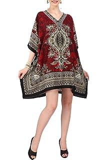 7c646cef70f15 Miss Lavish Women s Kaftan Tunic Kimono Dress Summer Evening Plus Size Beach  Cover up 10-