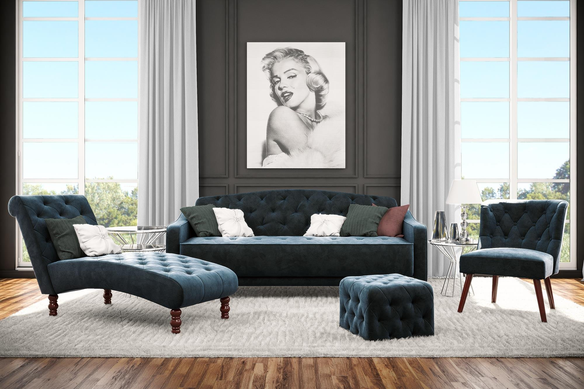 Magnificent Novogratz Vintage Con Pelo Insertado Tapiceria Diseno Pabps2019 Chair Design Images Pabps2019Com