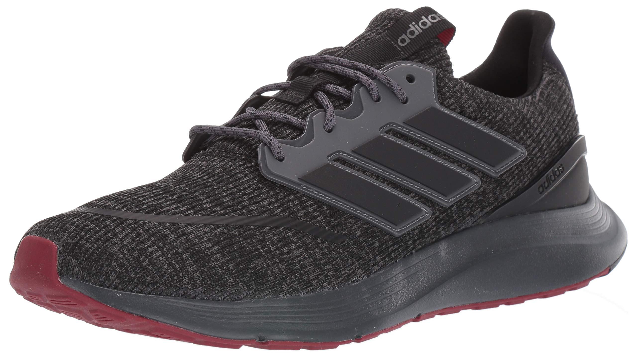 adidas Men's ENERGYFALCON Track Shoe, core Black/Grey Five, 8 Standard US Width US by adidas