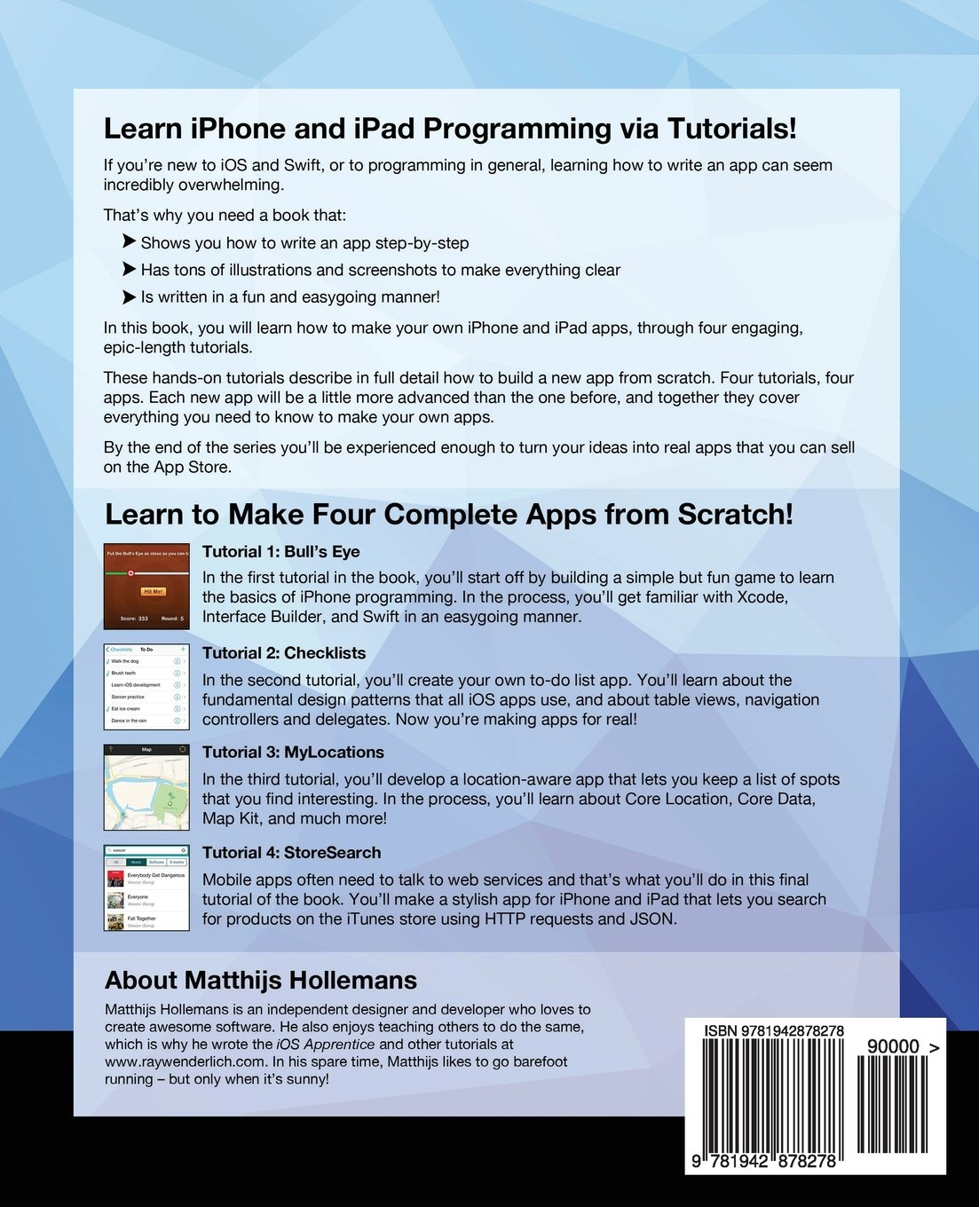 Ios Apprentice Fifth Edition: Beginning Ios Development With Swift 3:  Raywenderlich Team, Matthijs Hollemans: 9781942878278: Amazon: Books