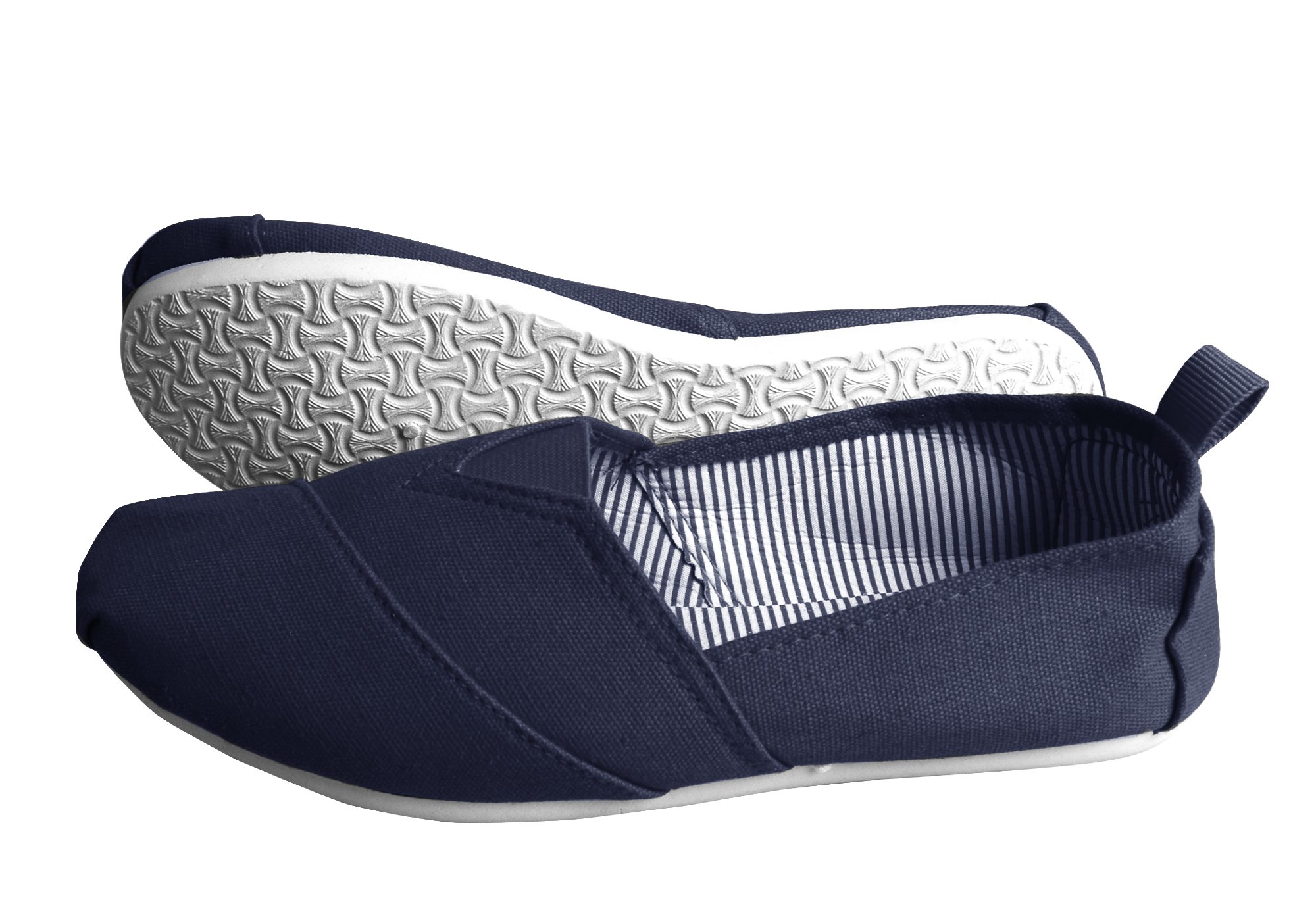 Peach Couture Striped Casual Summer Breathable Tennis Slip On Loafer Sneaker Shoes Blue 7