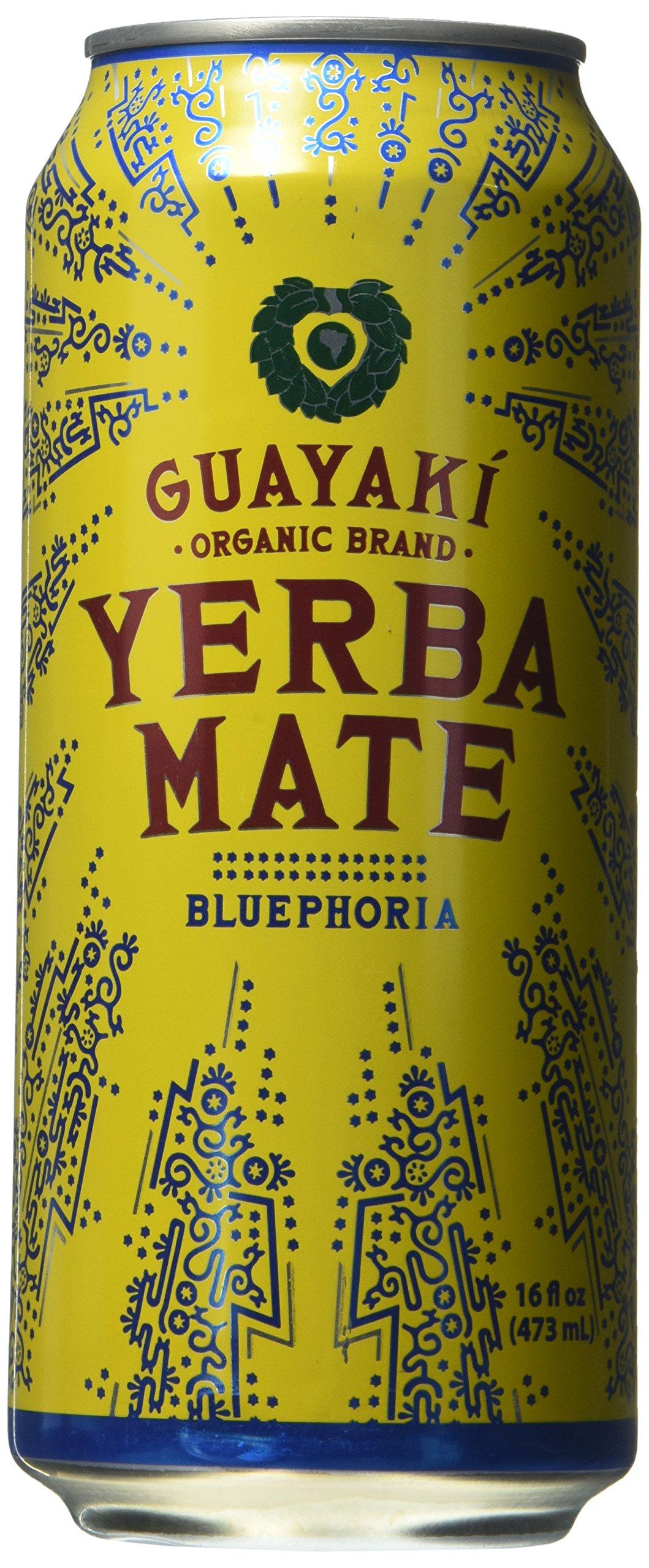 Organic Yerba Mate, Bluephoria, 16 Ounce (Pack of 12) by Guayaki