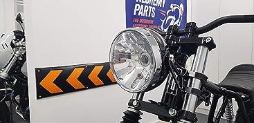 Universell Motorrad Schwarz Metall Cafe Racer Projekt Benutzerdefinierte Scheinwerfer E-Gepr/üft