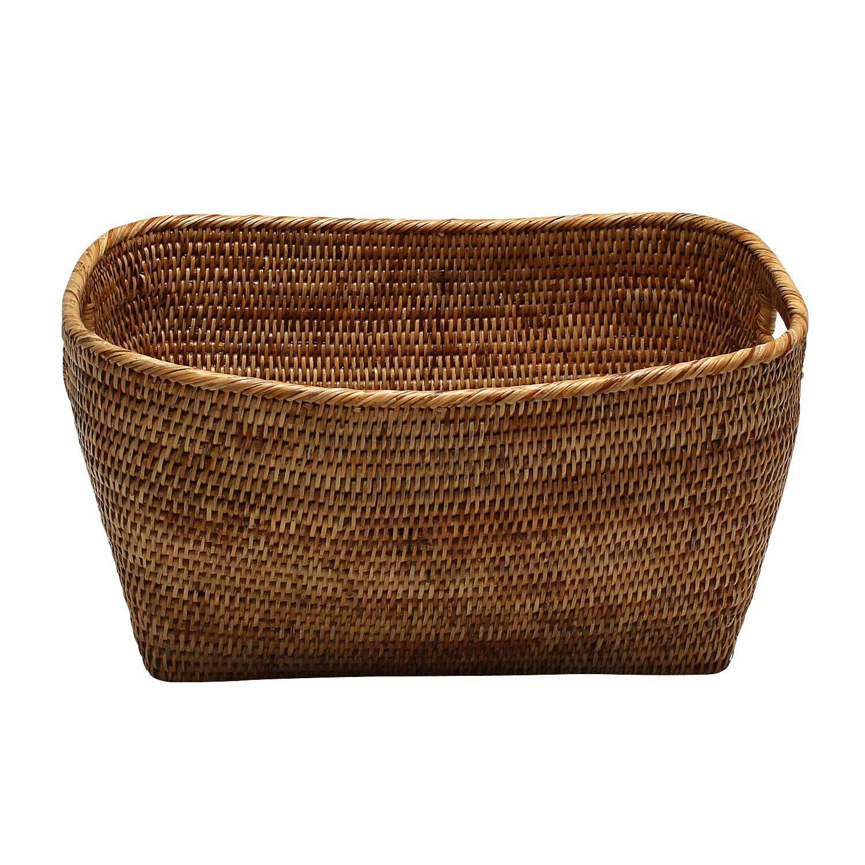 In Quality Dynamic Plastic Braided Rattan Style 45l Laundry Basket Hamper Storage Box Bin Sky Blue Excellent