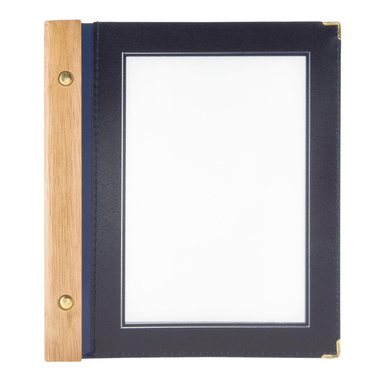 Securit - Porta menù con 2 inserti, in legno, formato A5, colore: Blu Vermes MC-WRA5-BU