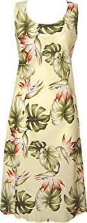 product image for Paradise Found Womens Monstera Paradise Short Tank Dress Yellow XS