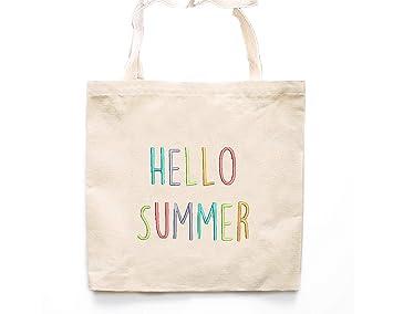 Hello - Bolso de lona para verano, bolsa de almacenamiento ...