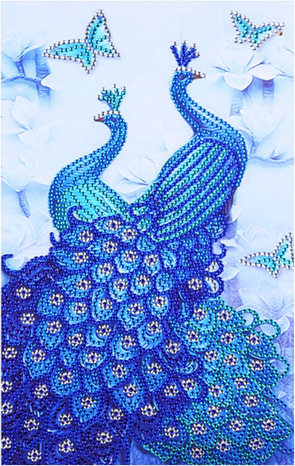 Diamond Painting DIY Special Shape Crystal Rhinestone,Partial Drill,Diamond Art Kits for Adults Kids,Embroidery Arts Craft Home Decorations Wall Decor Decorative Drawing Peacock-H081(10x16In)