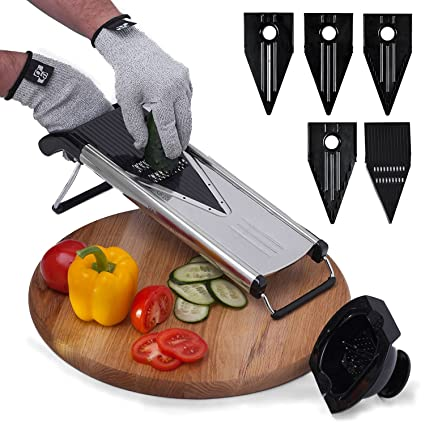 Mandolin Vegetable Slicer for Any Mandolin V Hand Safety Guard Holder