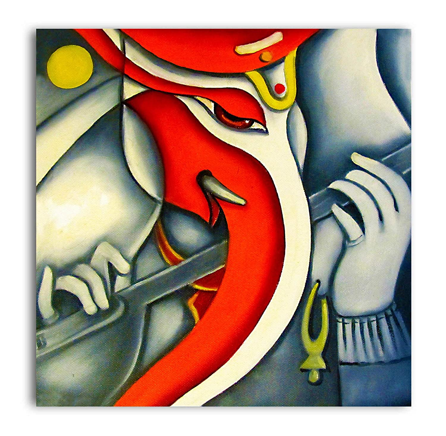 Tamatina Canvas Paintings Simple Ganesh Lord Ganesha Paintings Modern Art Paintings Paintings For Home Decor Paintings For Bedroom Paintings For Living Room Religious Canvas Paintings