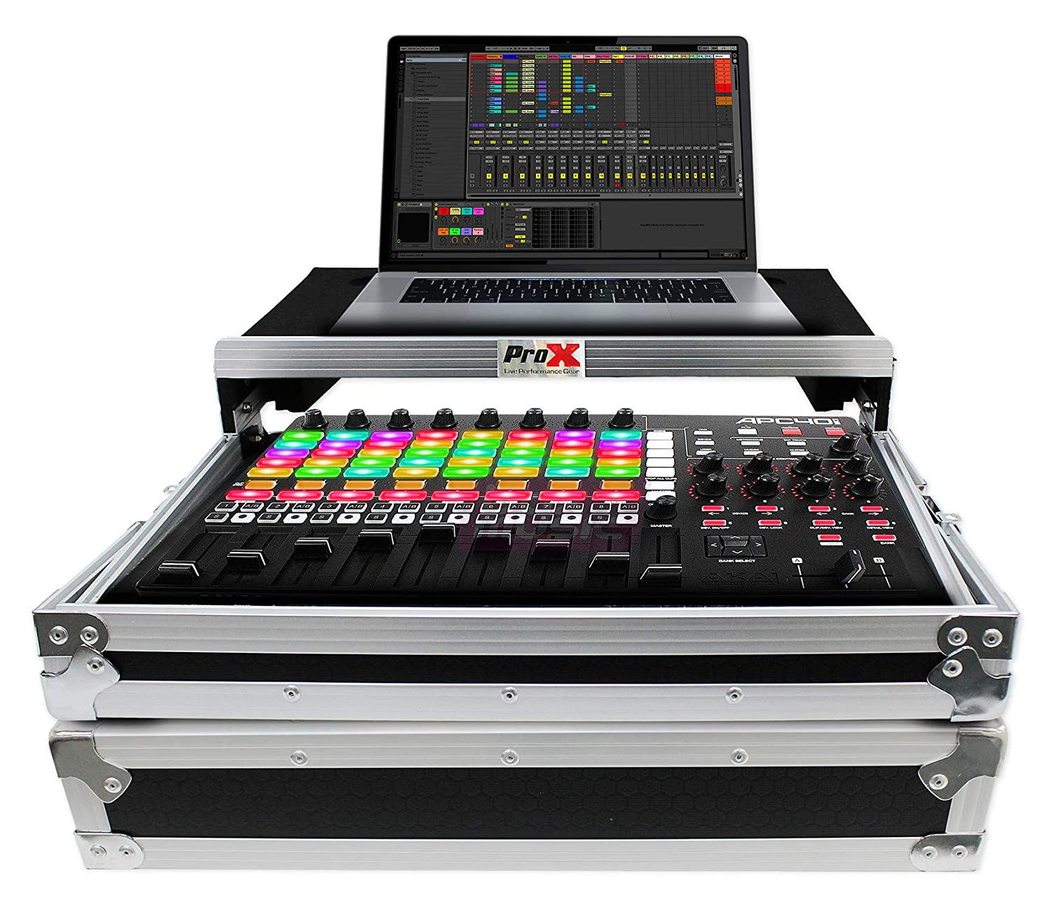 ProX X-APC40LT MK2 Case w/Wheels+Sliding Laptop Shelf For Akai APC40 MK2 MKII Pro x Cases