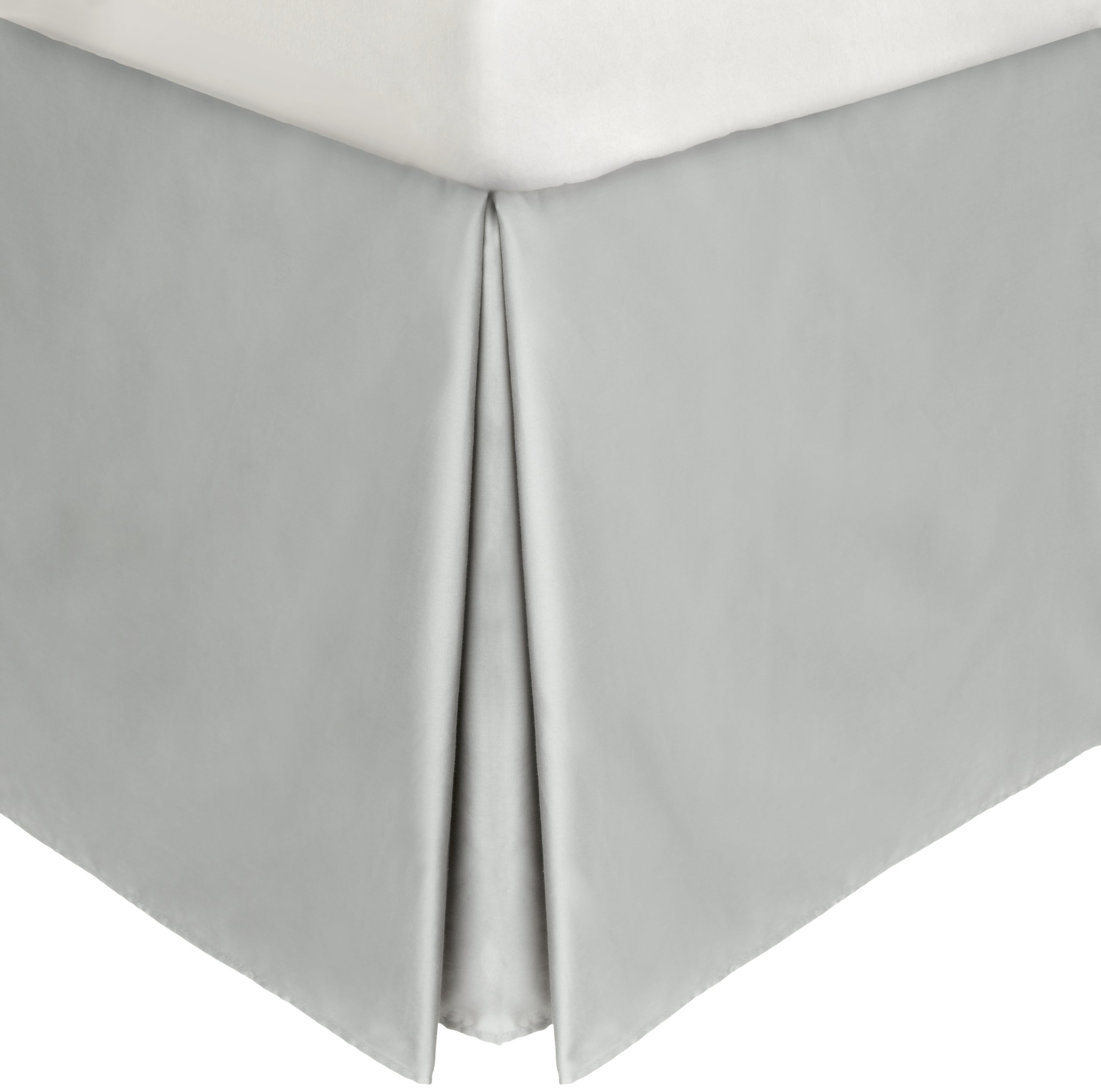 Calvin Klein Home Briar Double Row Cord California King Bedskirt, Pale Gray