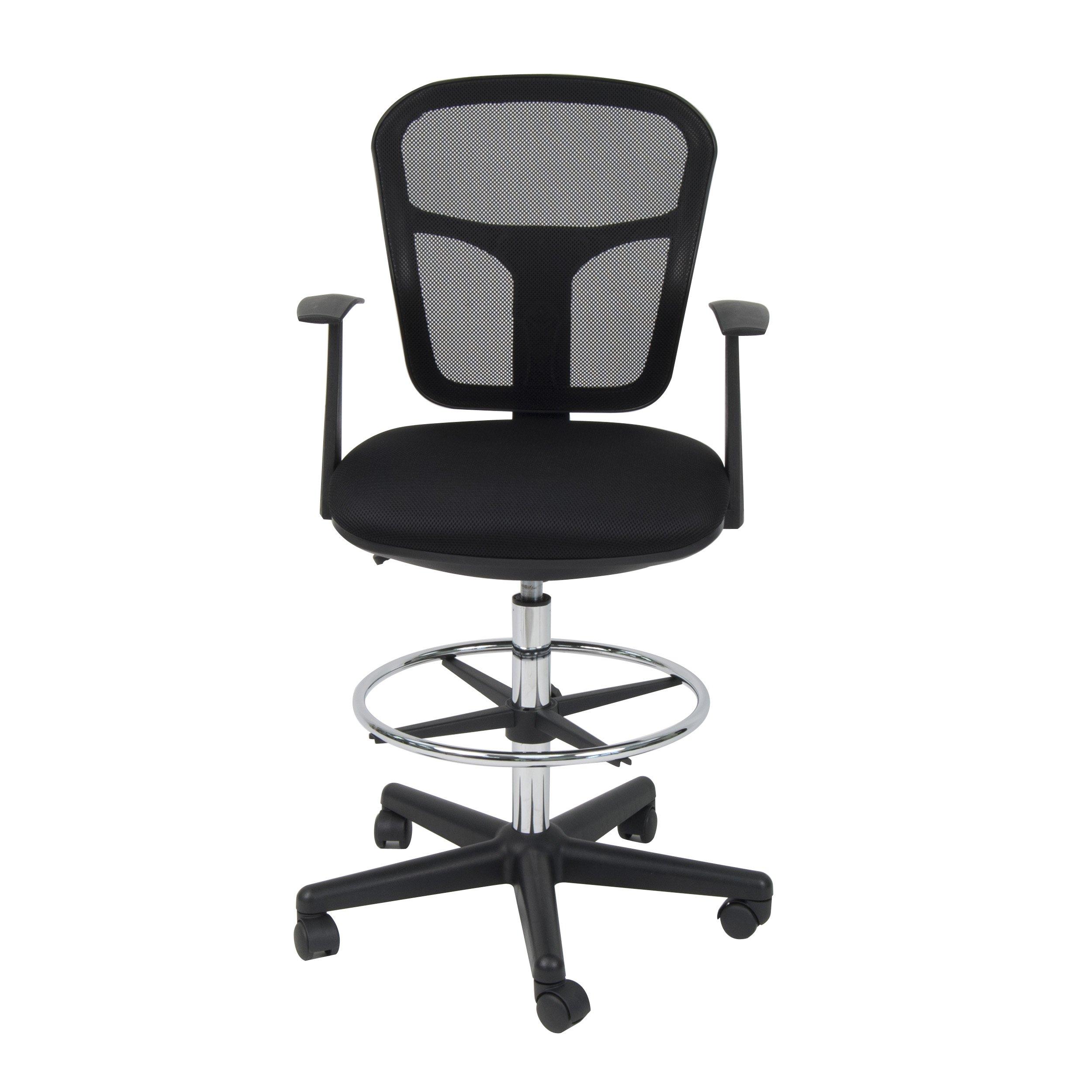 Studio Designs Riviera Drafting Chair, Black