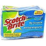 Scotch-Brite Scrub Sponge, 3 Pack, Non Scratch, Multipurpose, Kitchen Scrubber, Scour Sponge