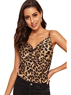 Short Dress Ladies Brown Leopard Skin effect Longer Length Cami Top