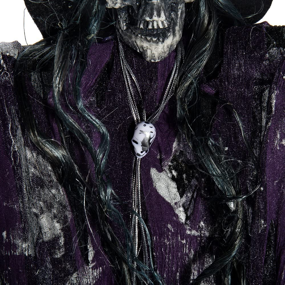 New/_Soul Halloween Hanging Skeleton Decoration Haunted House Ghost Zombie Light Up Eyes Scary Voice Sound Control Halloween Decoration Props Indoor Outdoor