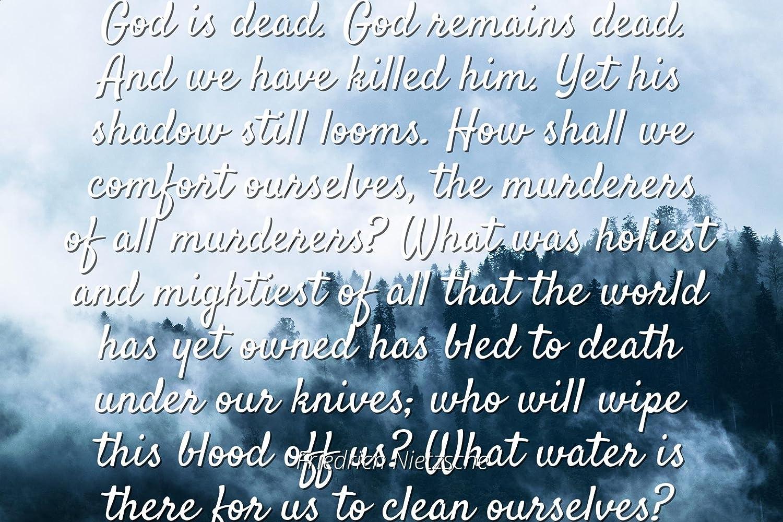 Amazon Friedrich Nietzsche Famous Quotes Laminated Poster